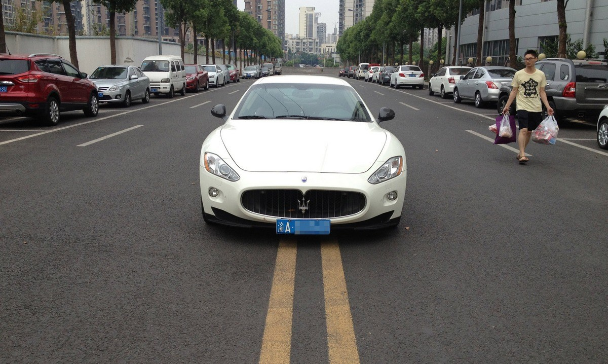 Pretty Chinese Rich Girl Parks Maserati In Middle Of Street