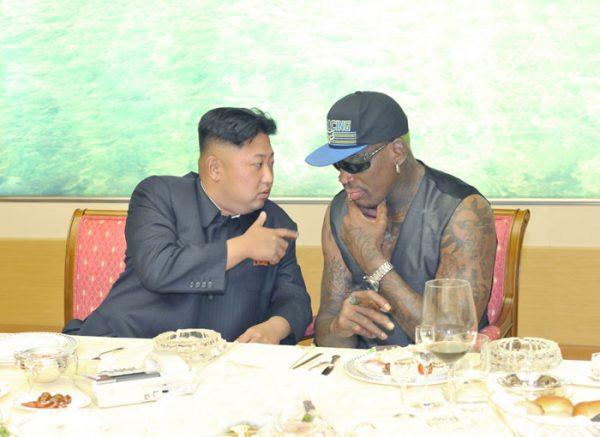 Dennis Rodman meeting with Kim Jong-un