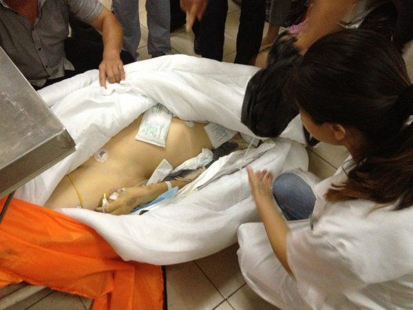 The dead body.