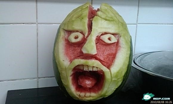 Scary watermelon 01