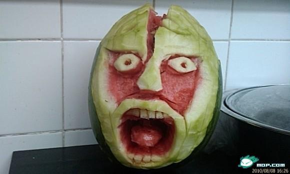 Scary watermelon 01