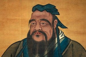 The image of Confucius.