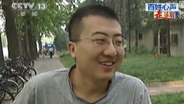 Chinese university student interviewed by CCTV about patriotism.