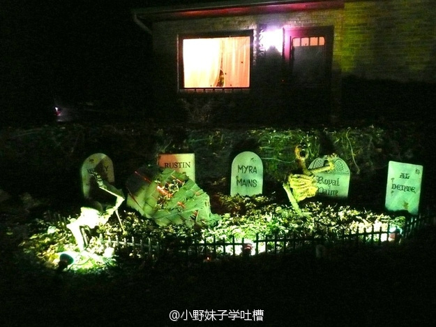 american halloween decorations posted on sina weibo