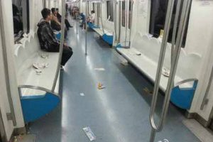 "Beijing Subway calls its passengers ""locusts"" for garbage left on train."