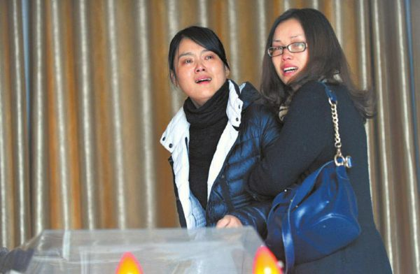 Junjun's family members are devested.