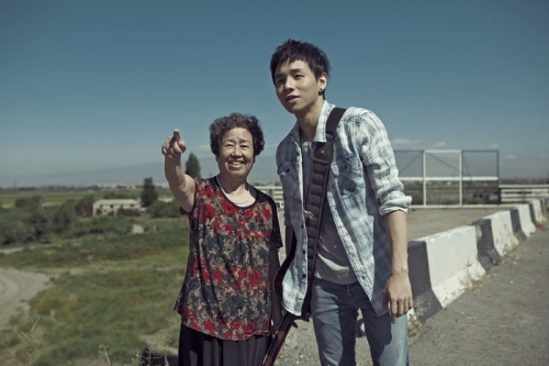 Li Shangshang and his maternal grandmother