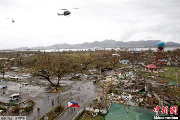 Acloban City of the Philippines is a mess after the attack of the typhoon.