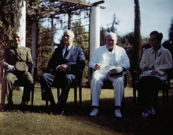 Chiang Kai-Shek with Franklin D. Roosevelt and Winston Churchill