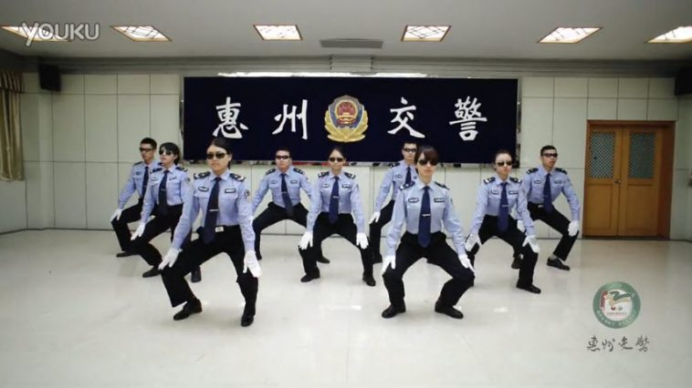 Chinese traffic police from the city of Huizhou release a dance video on December 2nd to promote traffic safety awareness.