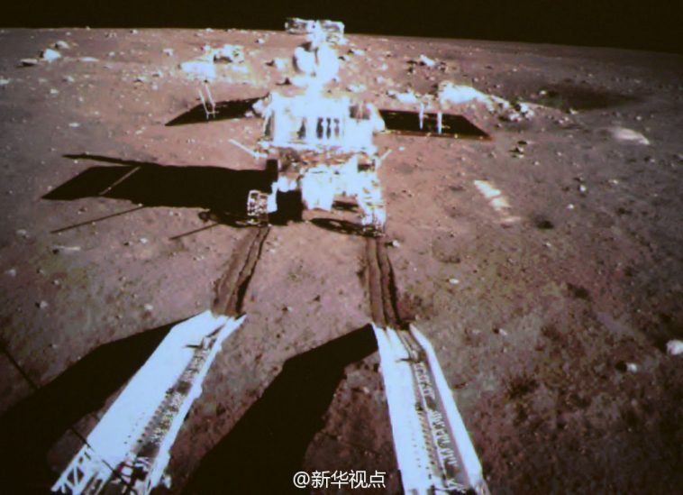 Jade Rabbit rolls to moon surface