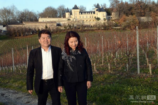 Chinese billionaire and his wife at the vineyard