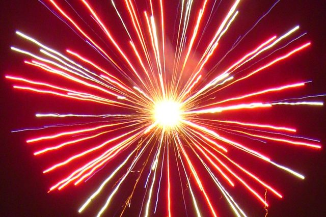 Firework exploding.