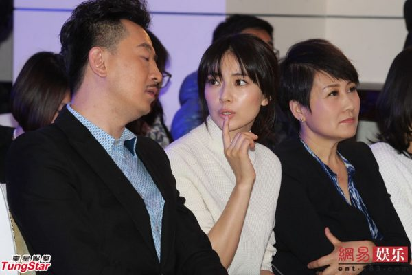 Chinese actors Huang Haibo, Gao Yuanyuan, and Zhang Kaili at a celebration party for the Chinese TV series 《咱们结婚吧》 Let's Get Married.