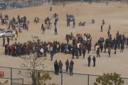 Hundreds of teachers in Hubei province of China go on strike demanding higher wages.