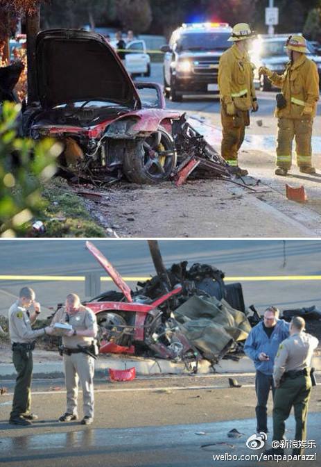 Crashed Porsche Carrera GT where Paul Walker died.