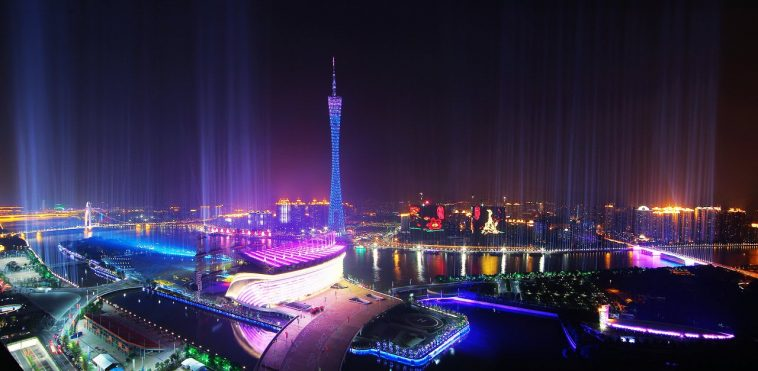 Guangzhou night skyline