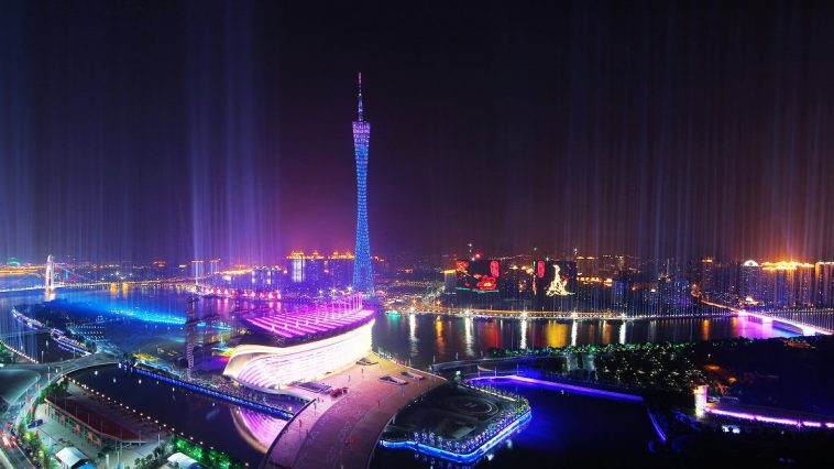 Guangzhou night skyline