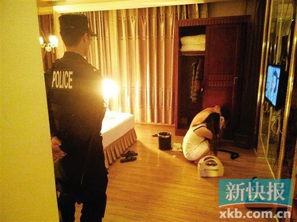 china-dongguan-anti-prostitution-sweep-crackdown-police-prostitute-john-hotel-room