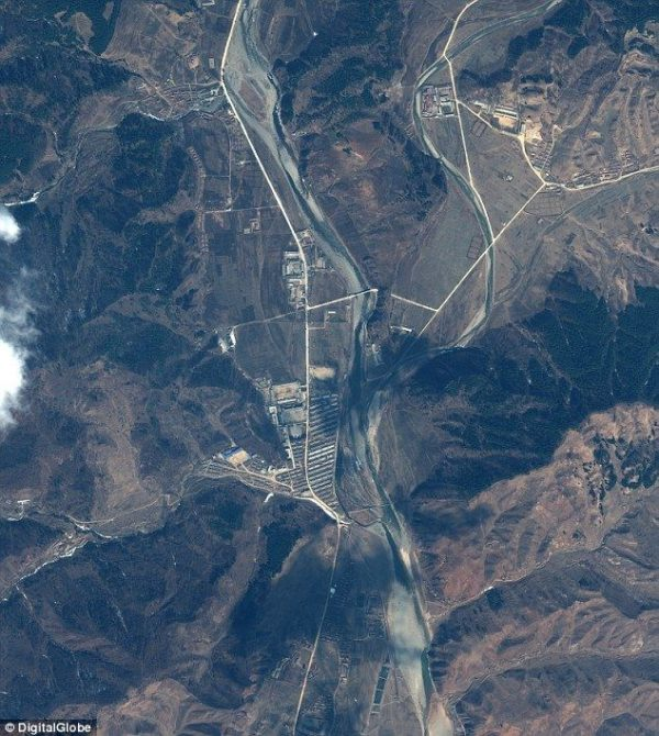 Photo is of a North Korean concentration camp.