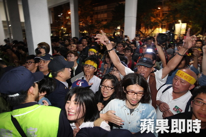 The attack upon and occupation of the assembly hall is unprecedented in the Legislative Yuan's history.