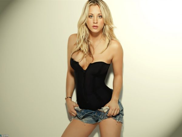 Kelly Cuoco, Penny in The Big Bang Theory.