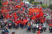 Anti-China Vietnamese protesters.