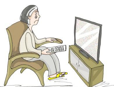 An elderly woman.