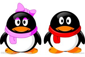 Tencent QQ mascot penguins.