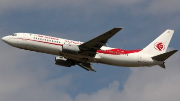 Air Algerie passenger plane in flight.