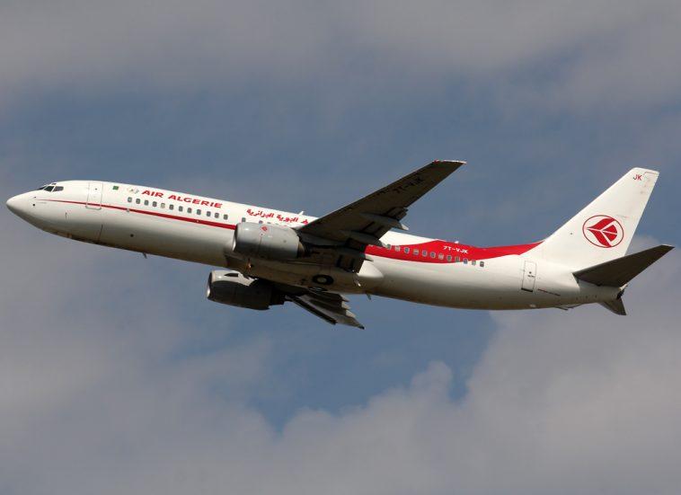 Air Algerie passenger plane in flight.