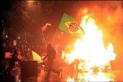 Rioting and arson in Brazil by after its national team lost 1-7 to Germany in the 2014 World Cup.