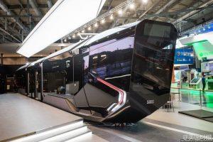 Futuristic Russian tram.
