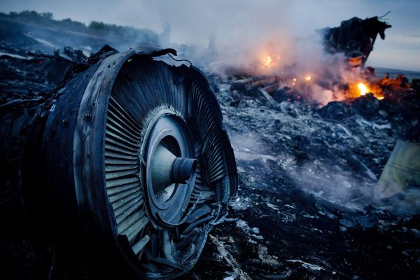 Malaysia AIrlines Flight 17 wreckage after it was shot down in Ukraine near the Russian border, allegedly by separatists.