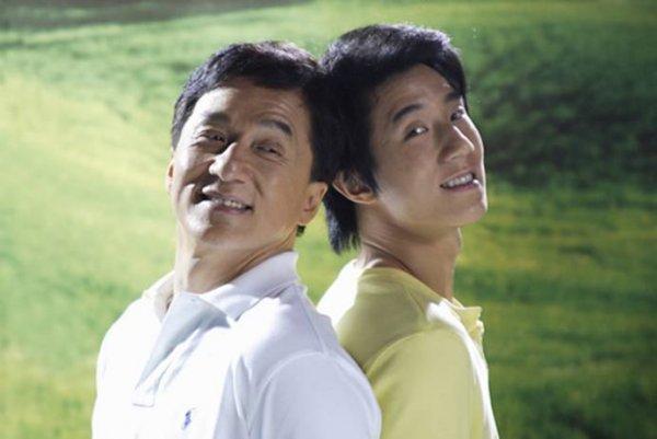 Jackie Chan and son, Jaycee Chan [Fang Zuming]