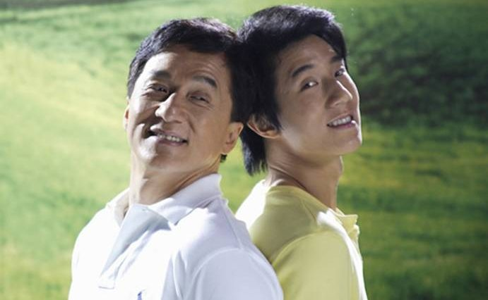 Jackie Chan and son, Jaycee Chan [Fang Zuming]