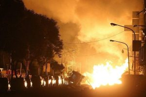 Deadly gas pipeline explosions in Kaohsiung, Taiwan.