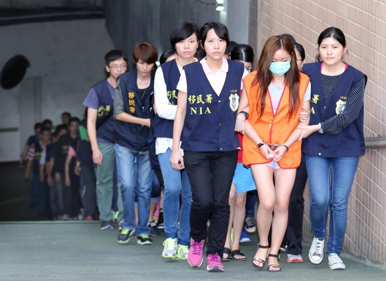 The arrested mainland women who committed prostitution.