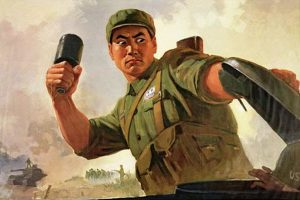 Chinese netizen spoofs 1970s and 1980s Chinese Communist propaganda posters.
