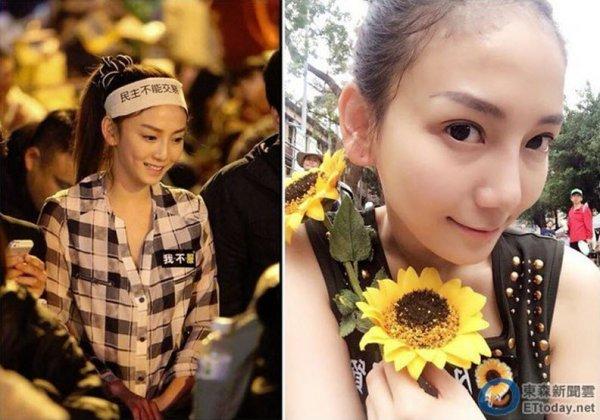 Johanne Liou, the Sunflower Queen of Taiwan's Sunflower Movement.