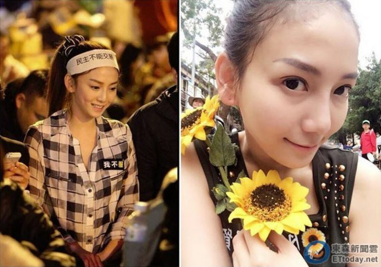 Johanne Liou, the Sunflower Queen of Taiwan's Sunflower Movement.