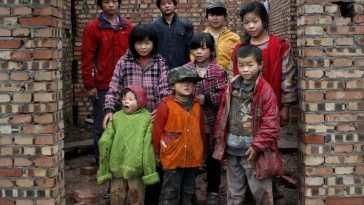 9 of the 11 children had by a Chinese couple in Sichuan.