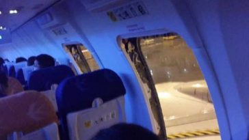 Angry passengers opened emergency exit doors on a China Eastern flight out of Kunming.