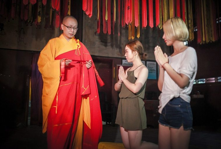 Lesbian Couple Confess Love, Prayed For By Buddhist Master