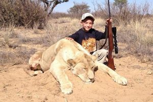 Netizens Condemn Hunter's Son Shooting Lion