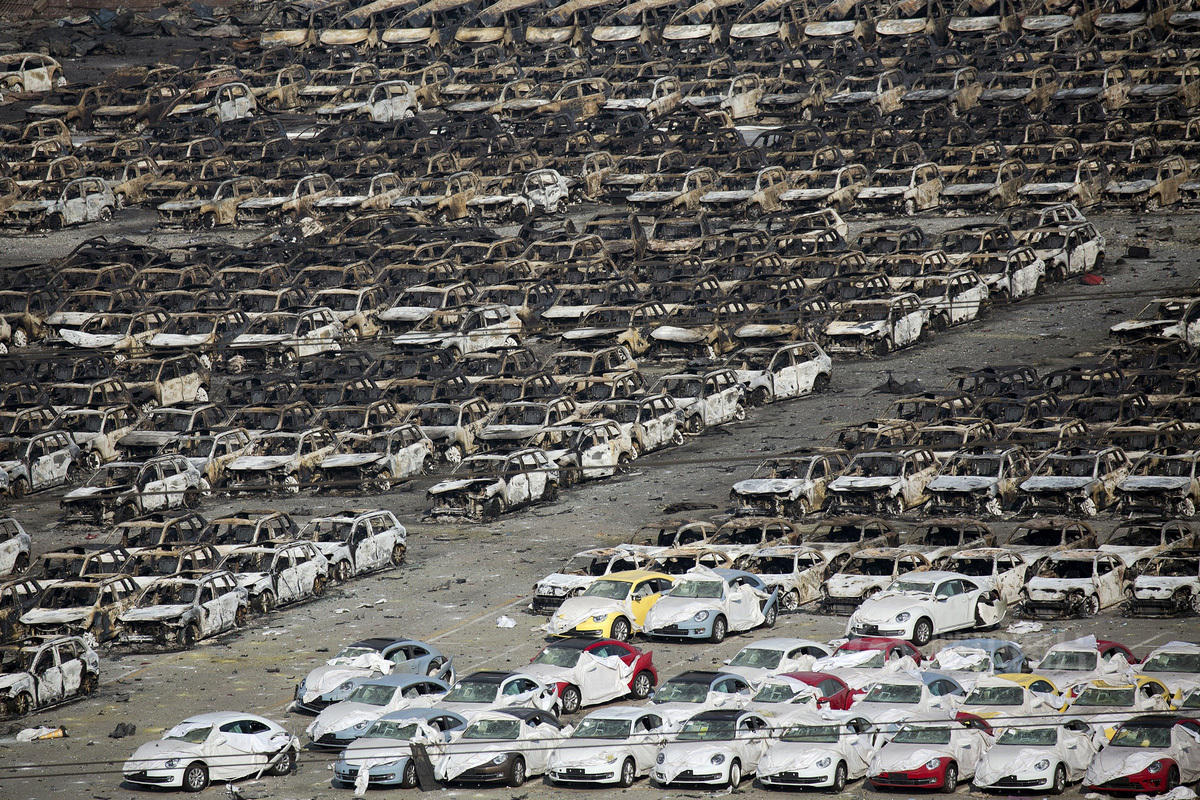 Tianjin Explosion Destroys Almost 3000 Newly Imported Vehicles