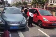 Tricycle-Riding Old Woman Scratches Car, Begs For Leniency