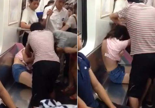 Woman Tears Girl's Clothes In Fight Over Train Seat