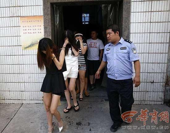 Xi'an Police Launch Surprise Anti-Vice Raids