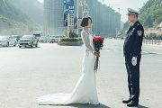 Bride-To-Be Takes Wedding-Dress Photos With On-Duty Husband